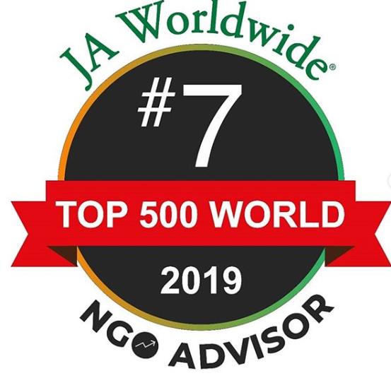 7° colocada entre as 500 melhores Organizações Não-Governamentais