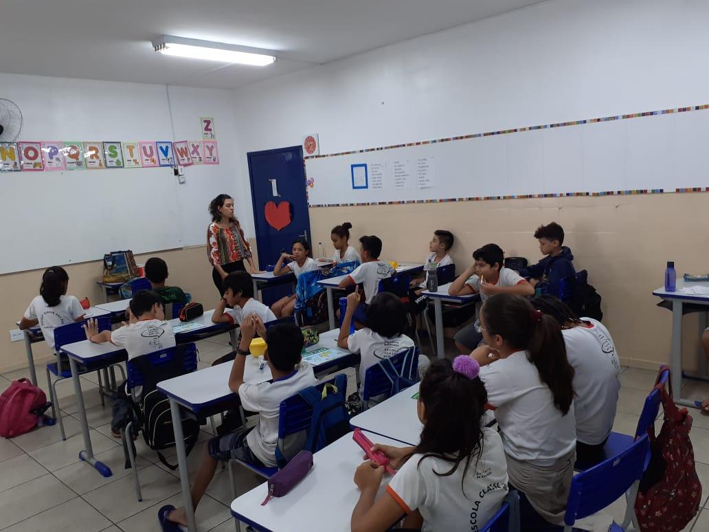 Estudantes do 5º ano recebem programa de meio ambiente