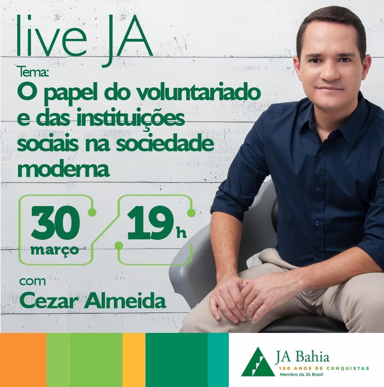 #LIVEJA com Cezar Almeida