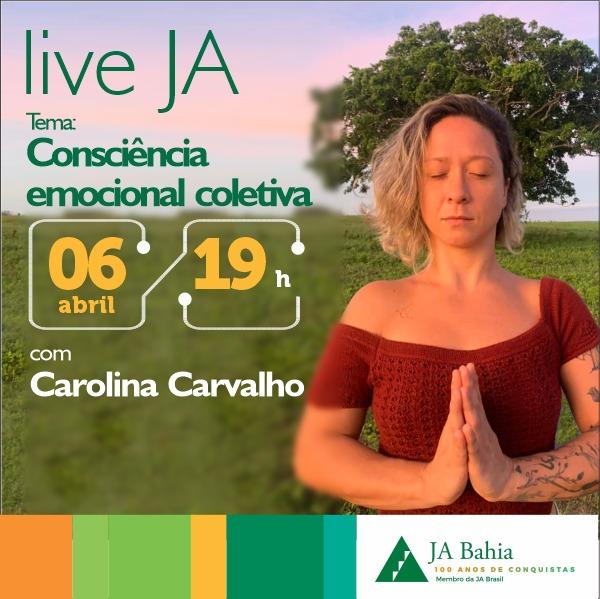 #LIVEJA com Carolina Carvalho