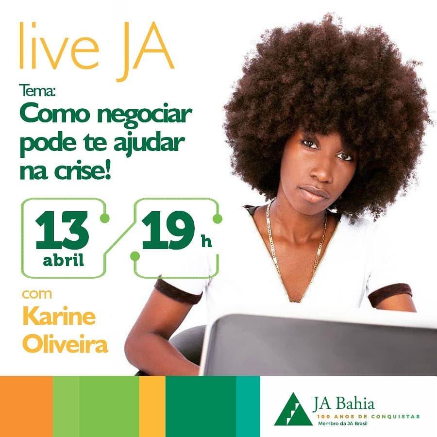 #LIVEJA com Karine Oliveira