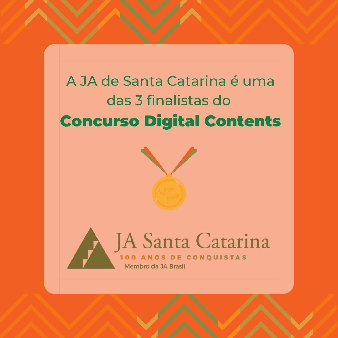 JA Santa Catarina finalista do Concurso Digital Contents