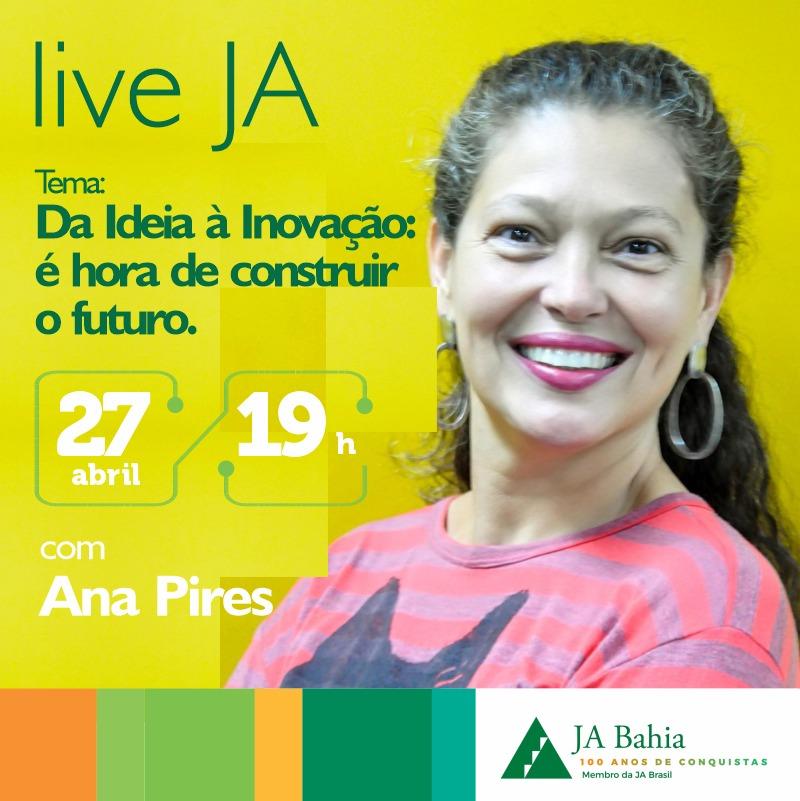#LIVEJA com Ana Pires