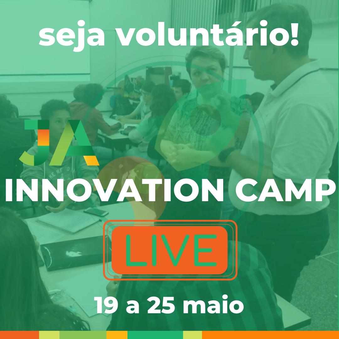 Seja voluntário: JA Innovation Camp Live