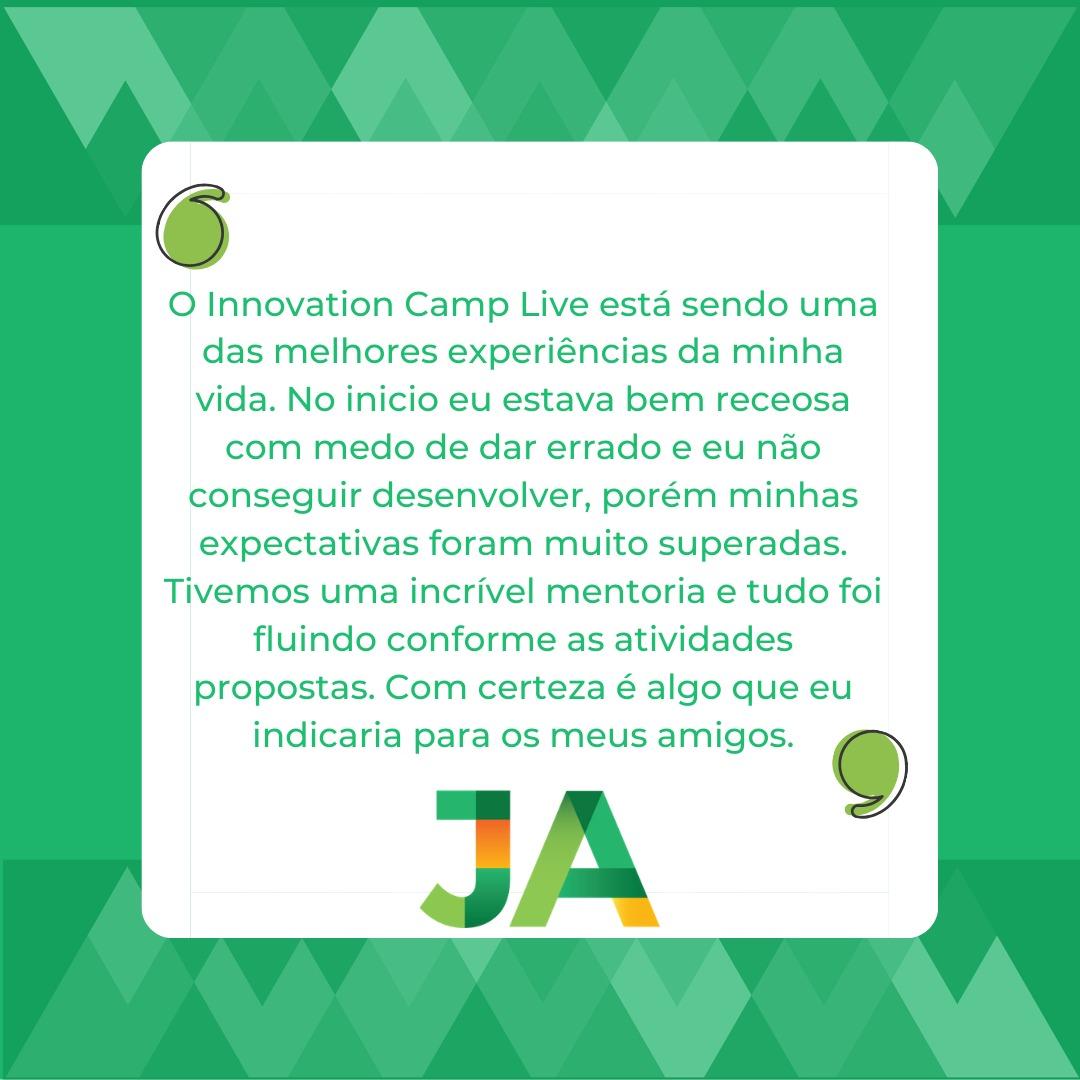 JA Innovation Camp Live: depoimento
