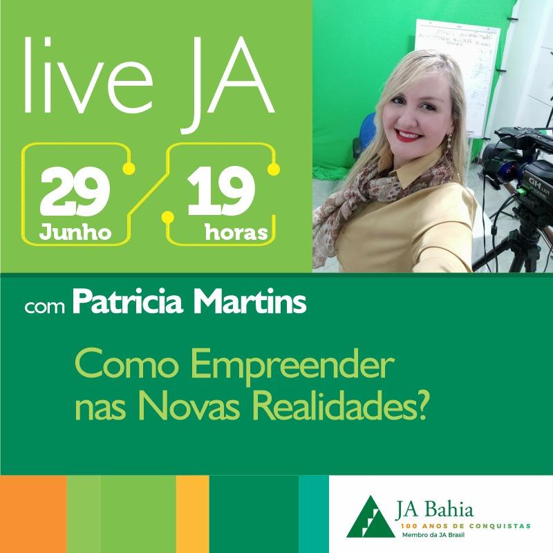 #LIVEJA com Patricia Martins