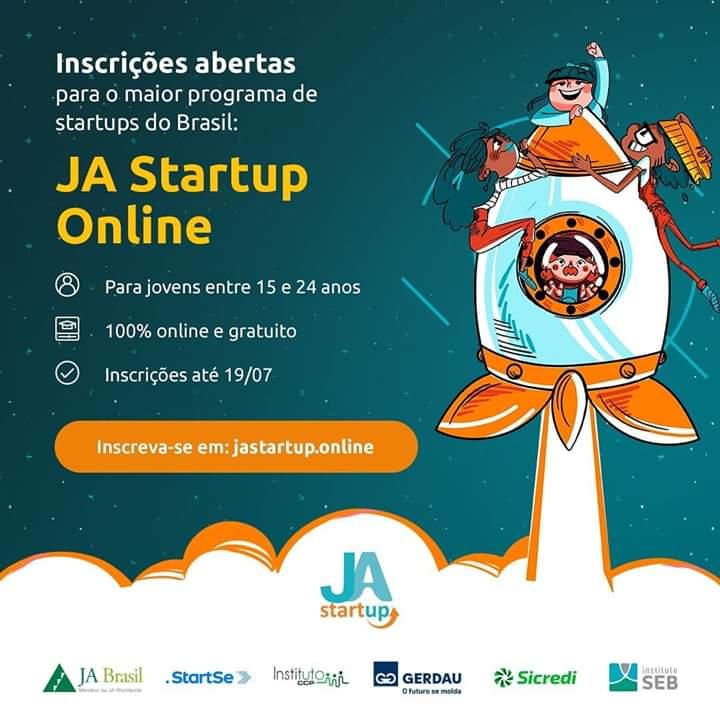 JA Brasil e StartSe oferecem curso gratuito   de inovação a jovens de todo país