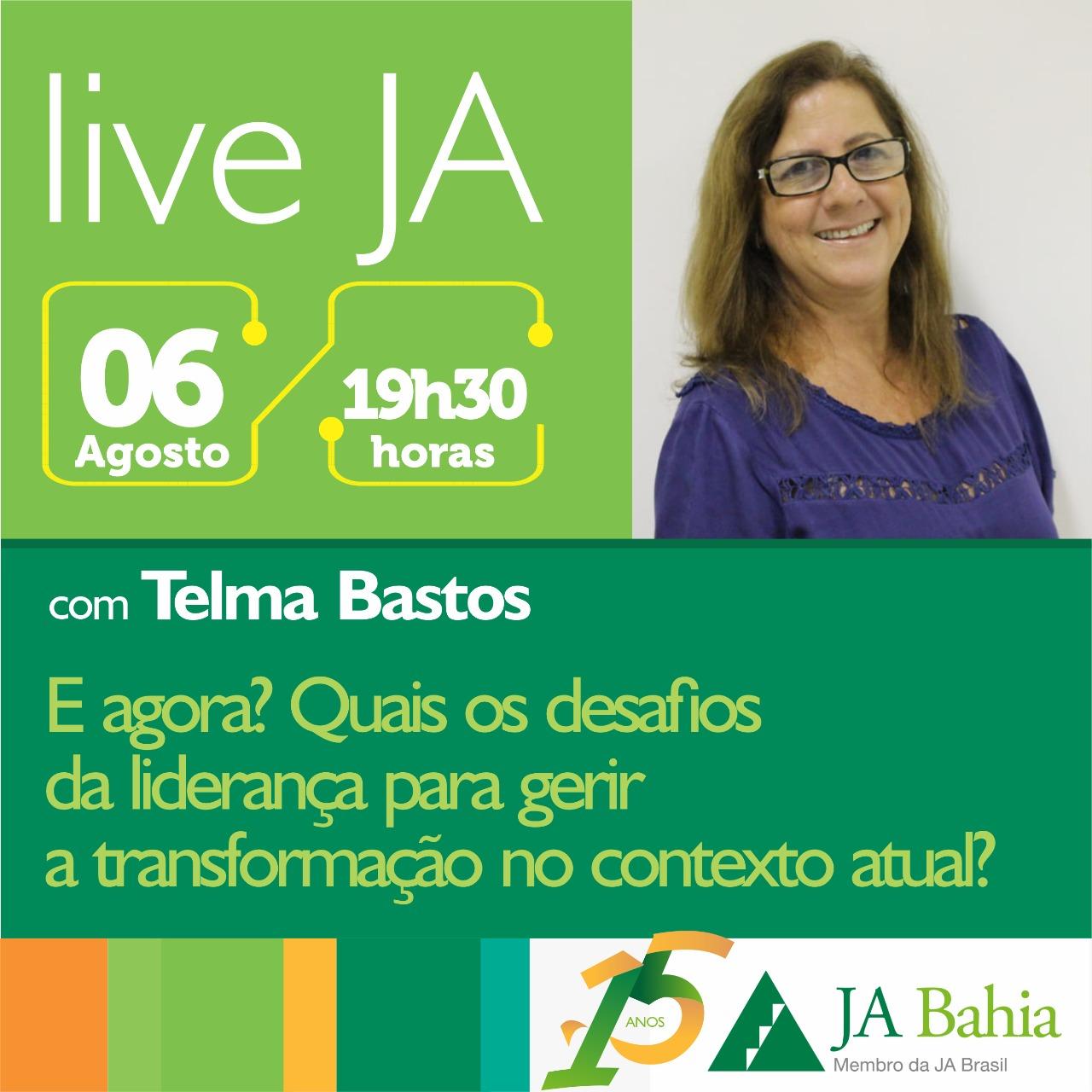 #LIVEJA com Telma Bastos
