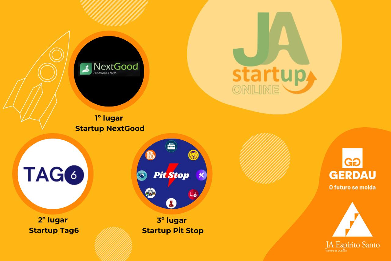 Programa JA Startup online em parceria com Gerdau