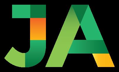 Logotipo JA Brasil preto e branco