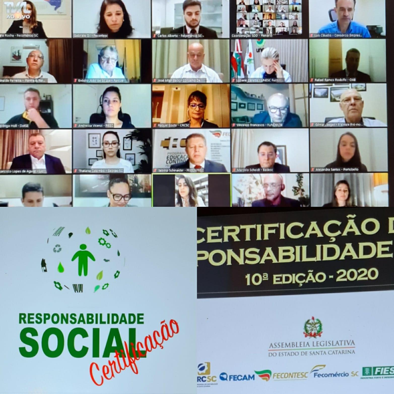 Junior Achievement de SC recebe Certificado de Responsabilidade Social da ALESC