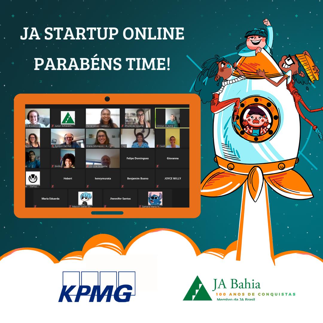 Finalização do JA Startup Online KPMG