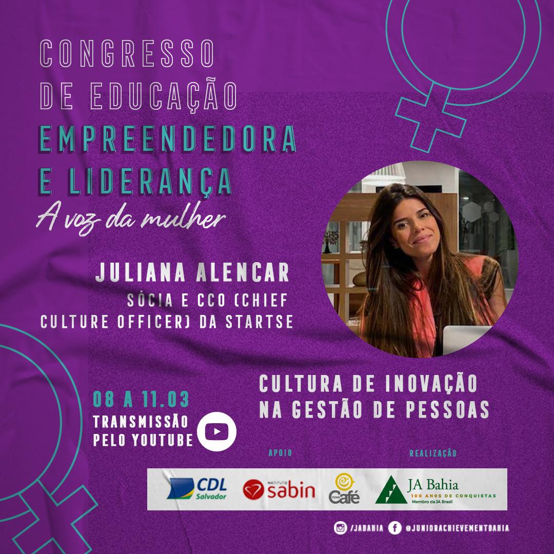 Palestrante Juliana Alencar - CDEL A Voz da Mulher