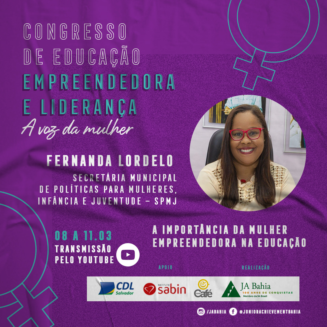 Palestrante Fernanda Lordelo - CDEL A Voz da Mulher