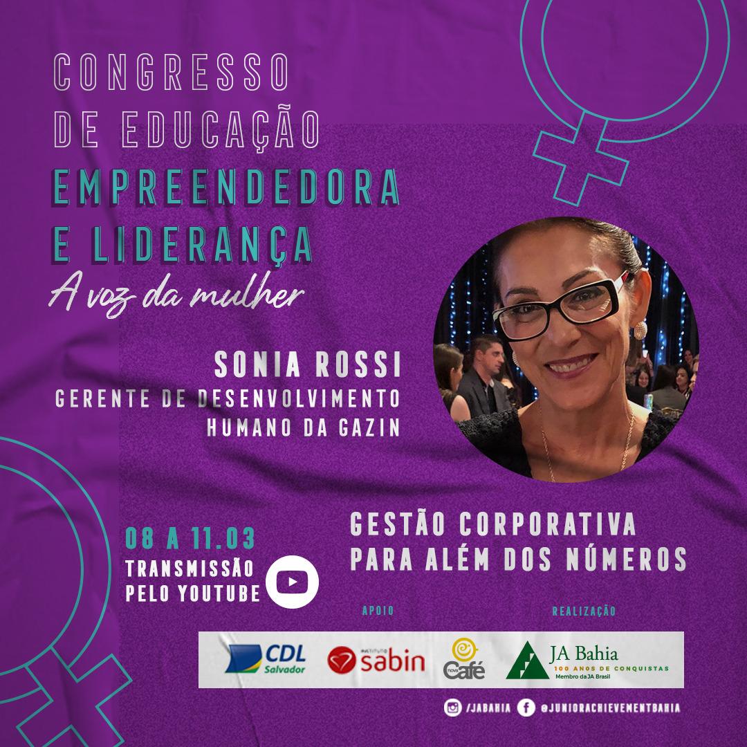 Palestrante Sonia Rossi - CDEL A Voz da Mulher