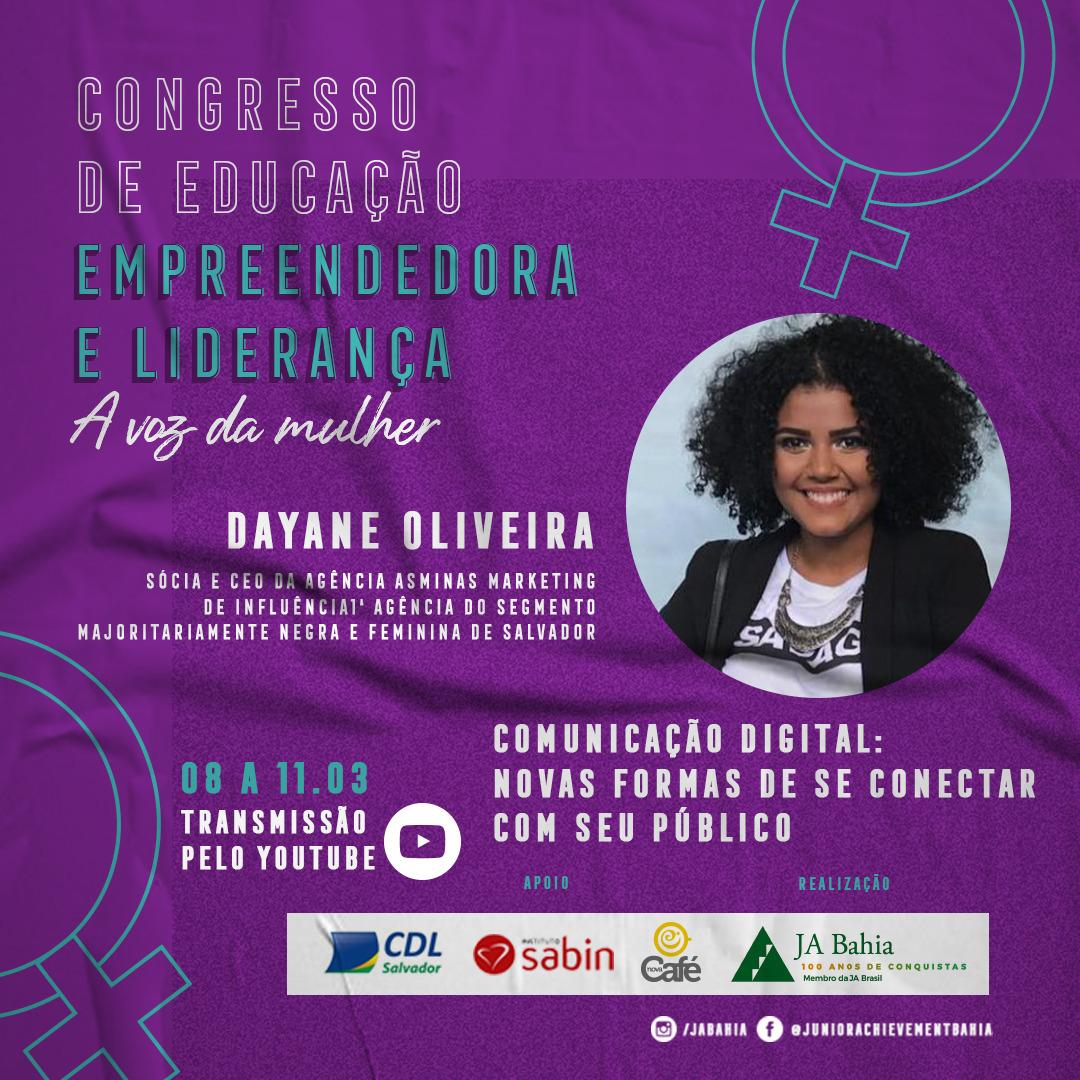 Palestrante Dayane Oliveira - CDEL A Voz da Mulher