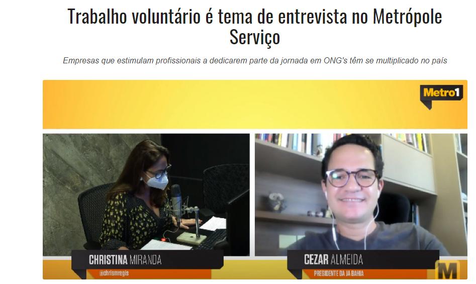 Rádio Metrópole - Entrevista com Cezar Almeida Presidente da JA Bahia